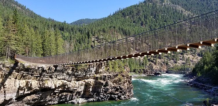 Swinging Bridge and Kootenai Falls Montana